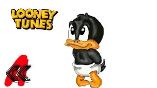 Baby Looney Tunes DAFFY the Duck in Diapers Draw 2 Kids