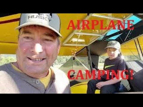 Airplane Camping! Gravelly Valley USFS Airstrip Mendocino NF