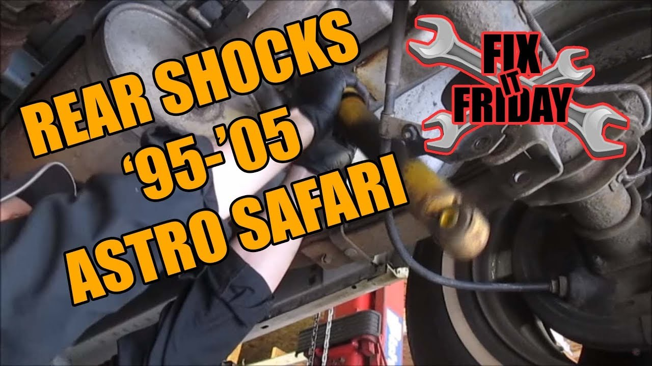 medium resolution of rear shock replacement 1995 2005 gmc safari chevrolet astro van