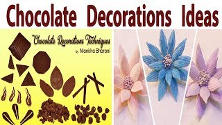 How To Make Chocolate Decoration Simple Easy Chocolate Decorating Idea For Cakes & Desserts