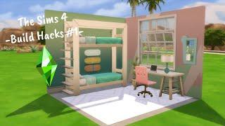 BUNK BEDS, CUSTOM SHOWERS, AND MORE! // The Sims 4 Build Hacks #1