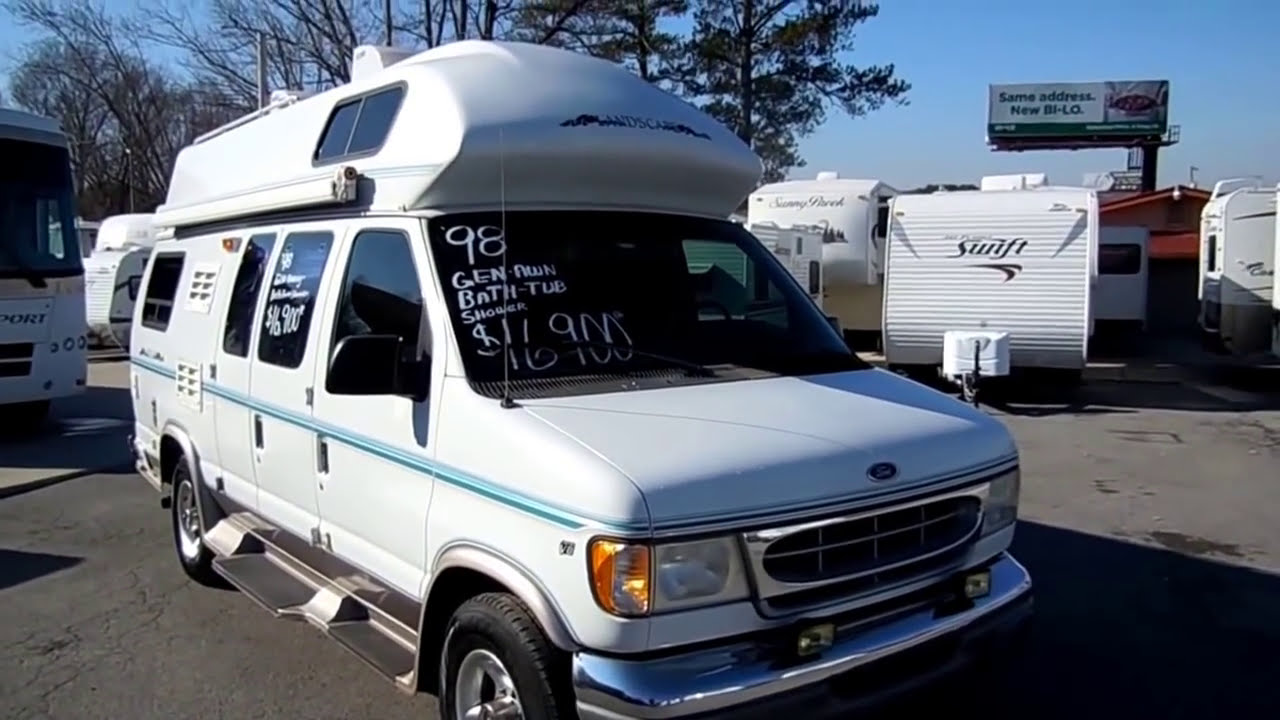 1998 Landscape 19 Ft Class B Camper Van Rv Generator Bathroom 15mpg Video Youtube