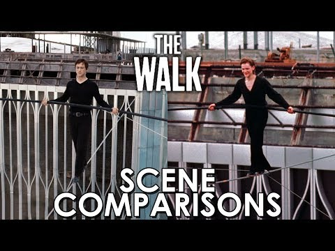 The Walk (2015) and Man on Wire (2008) - scene comparisons