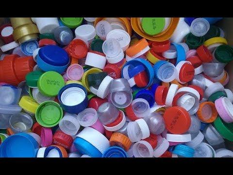 comment recycler des bouchons en plastique youtube. Black Bedroom Furniture Sets. Home Design Ideas