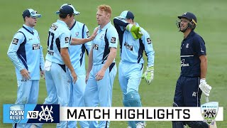 Smith, Cummins fire as NSW give the Vics the Blues | Marsh Cup 2020-21