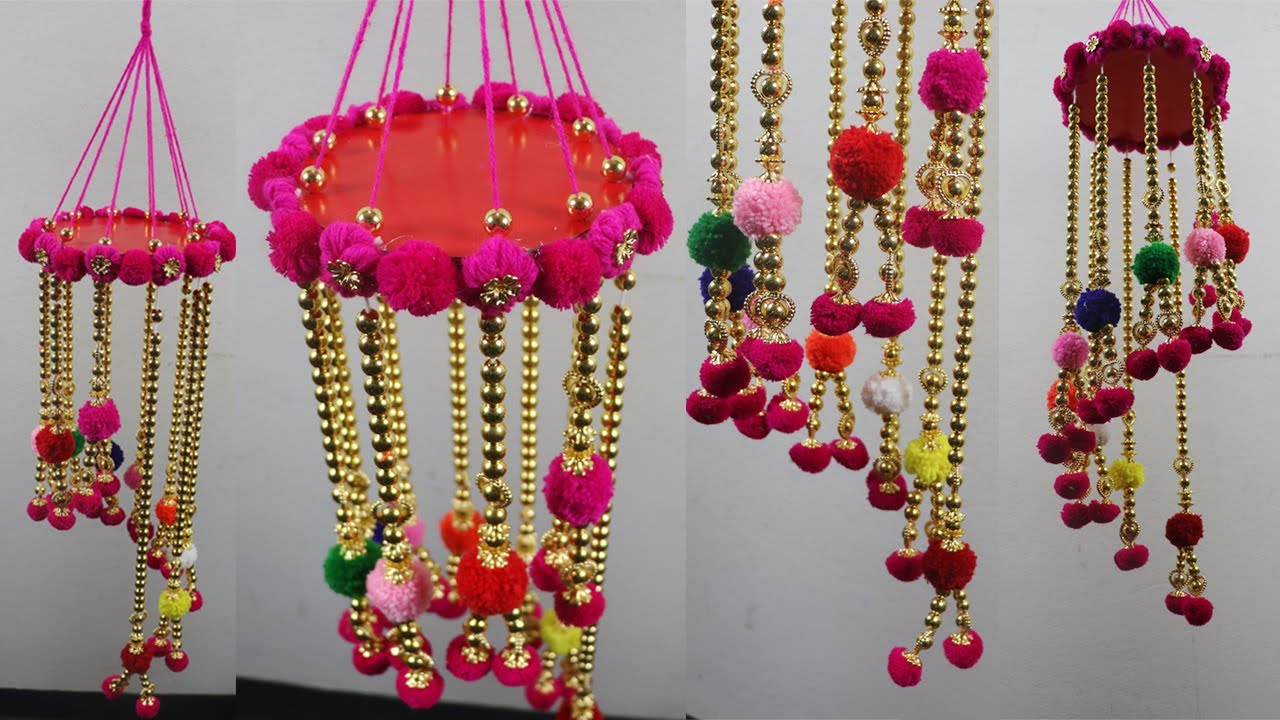 DIY Home decoration idea/woolen craft/jhalar banane ka ...