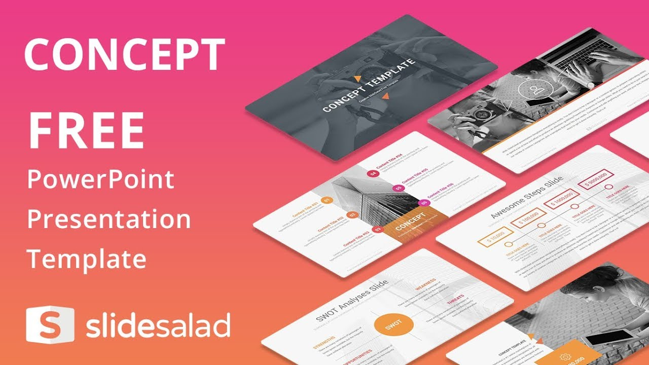 Concept Free Download PowerPoint Template - SlideSalad