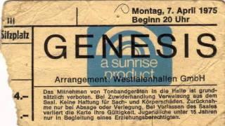 "Genesis Live 1975 Dortmund ""The Waiting Room"""