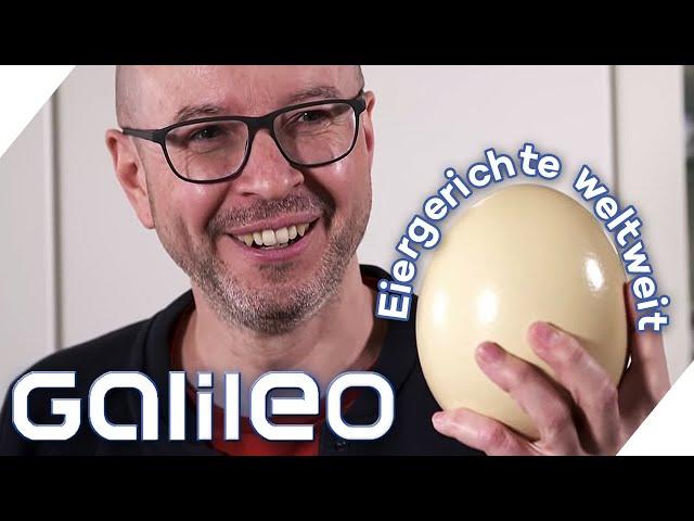 Eklig oder Delikatesse? Wie schmecken die außergewöhnlichsten Eier der Welt? | Galileo | ProSieben