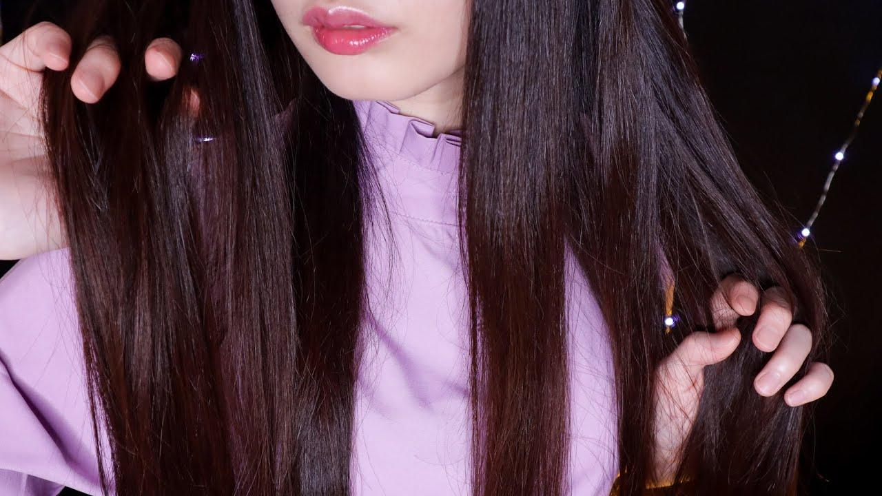 ASMR My Long Hair Triggers💇♀️(Mic Touching, Deep Ear Attention)
