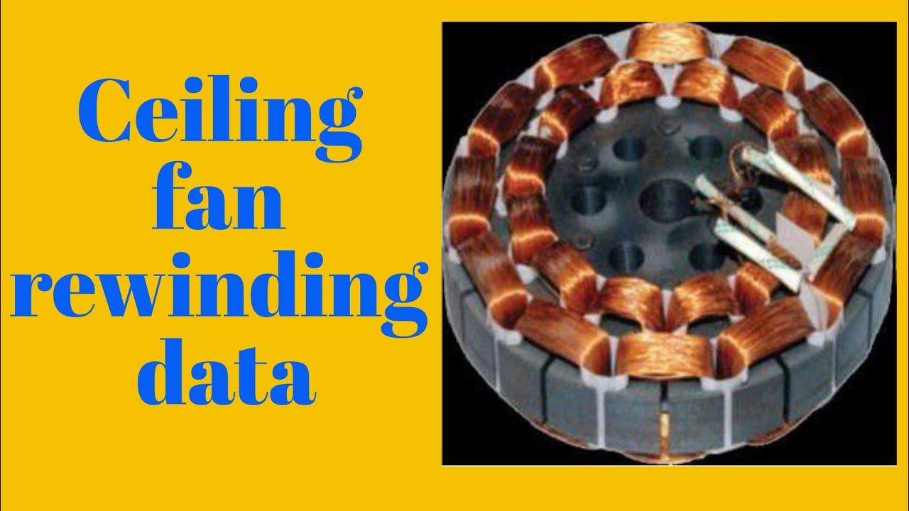 Ceiling Fan Rewinding 14 Part 1