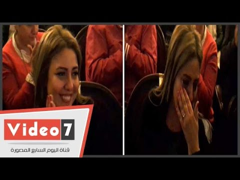 بالفيديو.. دموع مى كساب فى خطوبة هبة مجدى