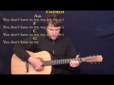 Try (Colbie Caillat) Strum Guitar Cover Lesson with Chord/Lyrics - Capo 1st