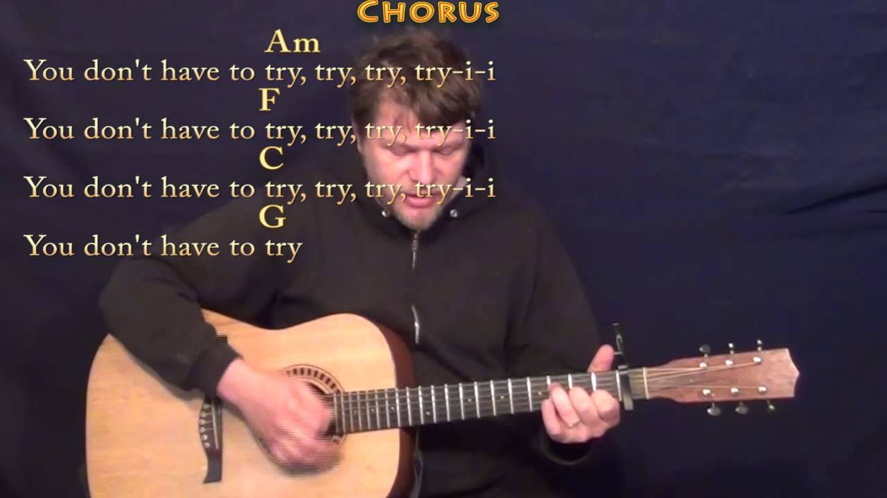 Try Colbie Caillat Strum Guitar Cover Lesson With Chordlyrics