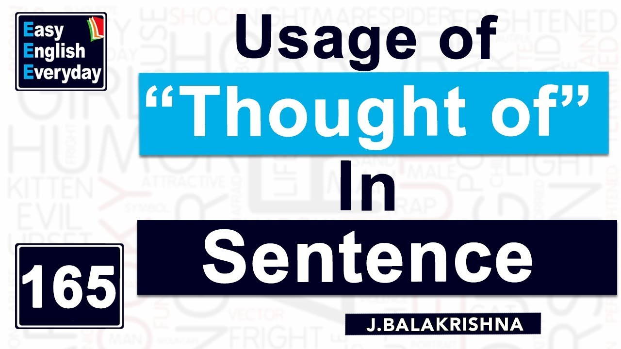 How To Make A Sentence In English For Beginners Use Of Thought Word Free
