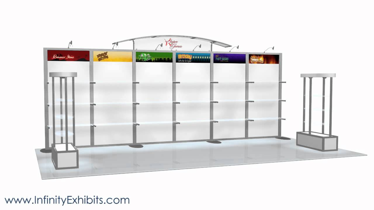 Trade Show Booth With Shelves : Ft modlite shelving trade show display booth youtube