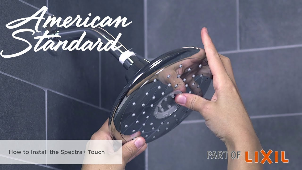 How to Install the Spectra+ Touch Shower Head - YouTube
