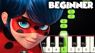 Miraculous Ladybug Theme | BEGINNER PIANO TUTORIAL + SHEET MUSIC by Betacustic