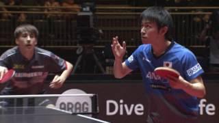 男子シングルス1回戦 丹羽 孝希 vs レベンコ 第4ゲーム