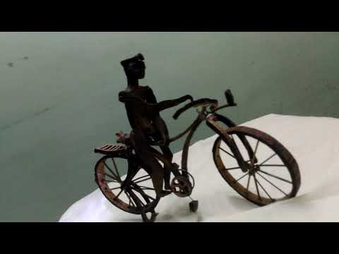 coconut shell crafted cycle