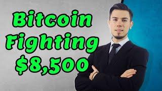 Bitcoin Fighting $8,500 - Take Off ?