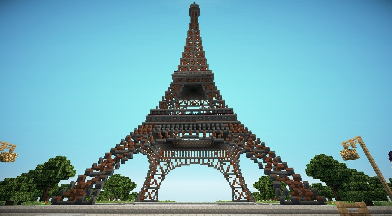 Minecraft eiffel tower in paris youtube - The house in the old franciscan tower ...
