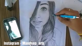How to | draw a | face  | realistic sketch | of a girl | ordered sketch |