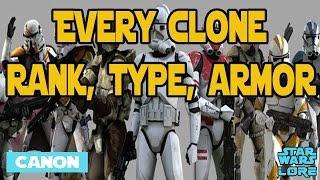 Every Clone Rank, Type, Armor - Star Wars Lore (Canon)