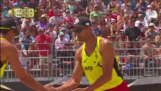 2018 FIVB Huntington Beach Open: Evandro/Andre vs Herrera/Gavira - Men's Semifinal Match