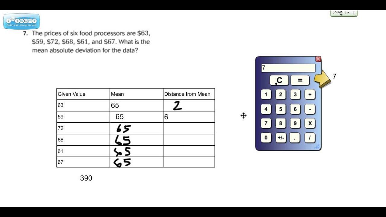 medium resolution of Mean Absolute Deviation (MAD) Go Math Grade 6