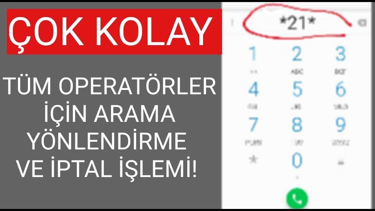 Telefon Yönlendirme İşlemi Turkcell. Vodafone, Türk Telekom Arama Yönlendirme İptal
