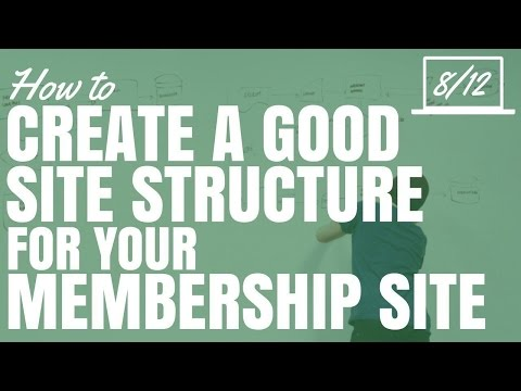 How To Create A Good Site Structure For Your Membership Site (Part 8/12)