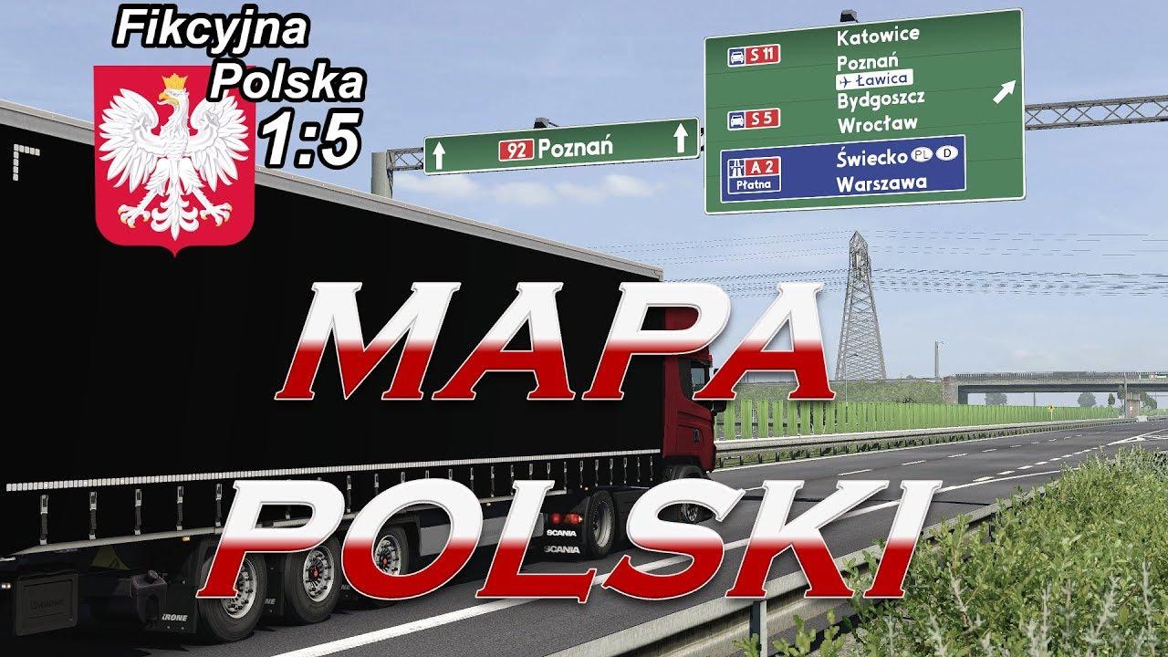 Ets 2 Mapa Polski W Koncu Przedpremierowo Fikcyjna