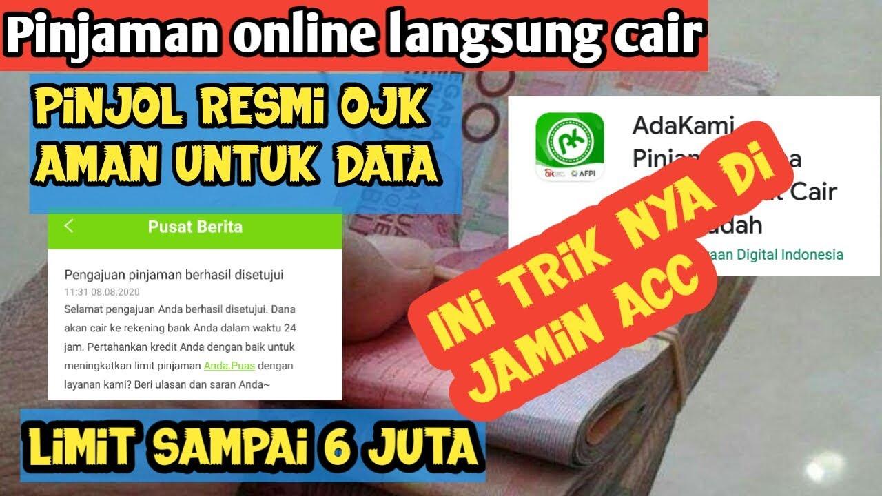 Aplikasi Legal Terdaftar Ojk Pinjaman Online Langsung Cair Youtube