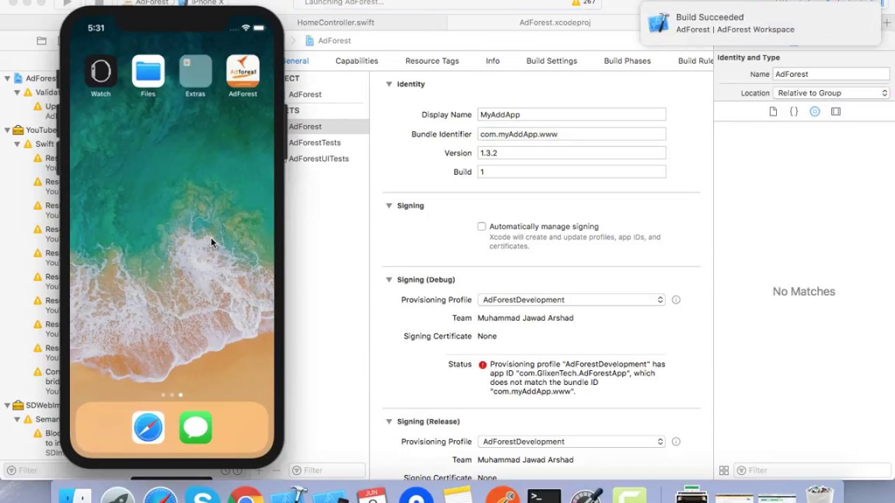 AdForest IOS App Changing the Project Name Another Way