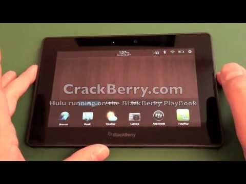 Hulu running on the BlackBerry PlayBook