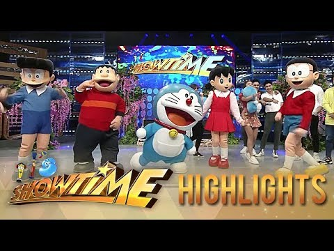 Doraemon & Friends visit the madlang people | It's Showtime