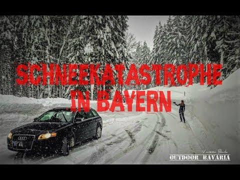 Katastrophenfall und ⚠️Schneechaos in Bayern 2019 ⛔️ Unglaubliche Bilder - 2 Meter Neuschnee - 4K -