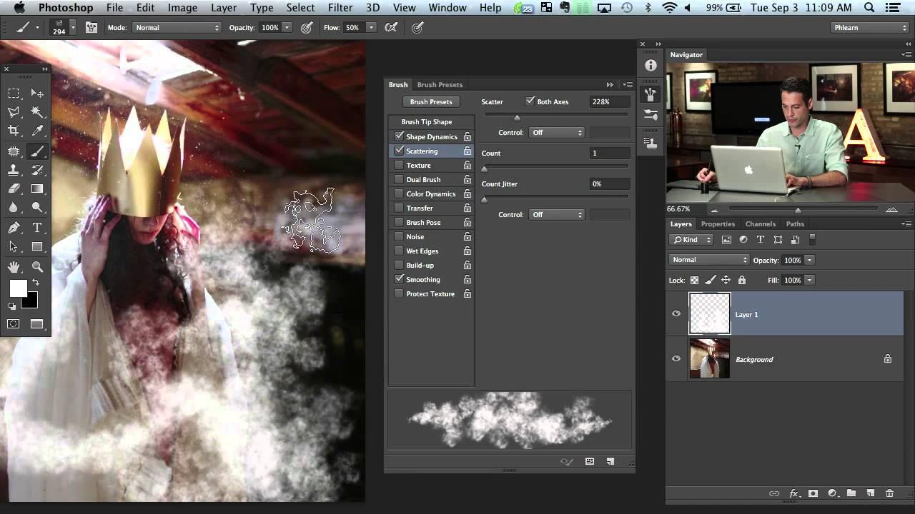 Free Photoshop Brush: Atmosphere - PHLEARN