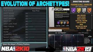 THE EVOLUTION OF ARCHETYPES IN NBA 2K! (NBA 2K10 - NBA 2K19) MYPARK EVOLUTION