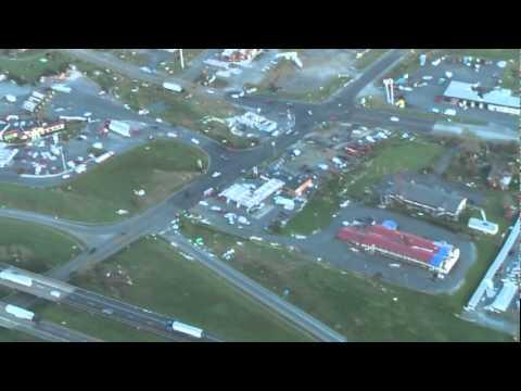 81 Exit 29 area tornado damage Glade Spring VA 04 28 2011 Cessna 172