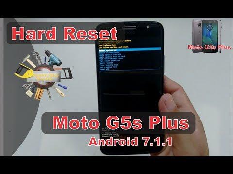Hard Reset Moto G5s Plus XT1802 e outros da linha Moto G