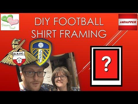 DIY Football Shirt Framing - Evestrust Charity Football Match