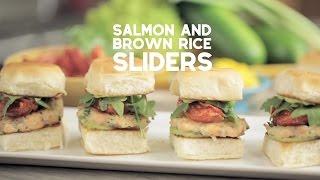 Salmon and Brown Rice Sliders