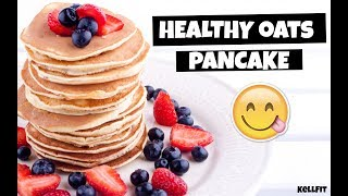 Healthy Banana Oats Pancake | Flourless, Dairy-Free, Low-Fat | By KellFit