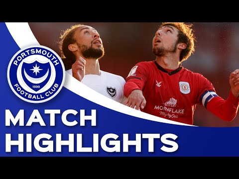 Crewe Portsmouth Goals And Highlights