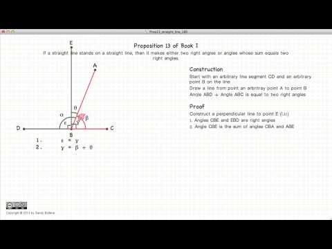 Euclid's Elements Book 1 - Proposition 13