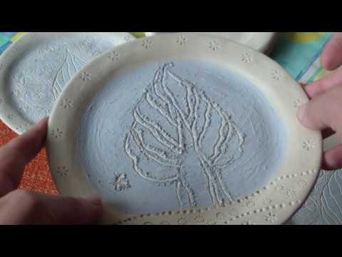 DIY Ceramic plate - Ukraine handmade