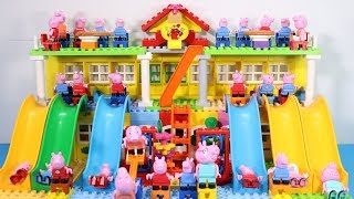 Peppa Pig House Creations With Water Slide Toys - Lego House Toys For Kids #5