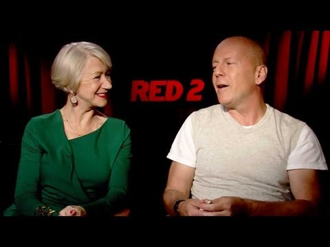 RED 2 Cast Interview: Bruce Willis, Helen Mirren & More!